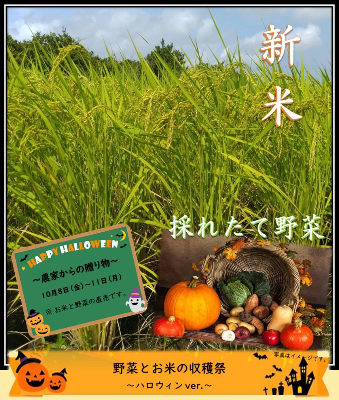 野菜とお米の収穫祭 ハロウィンVer.